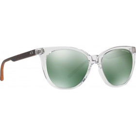 ΓΥΑΛΙΑ ΗΛΙΟΥ Armani Exchange AX4072S 82356R 55 TRANSPARENT CRYSTAL / LIGHT GREEN MIRROR PETROL