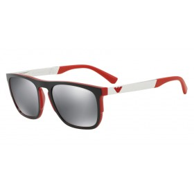 ΓΥΑΛΙΑ ΗΛΙΟΥ Emporio Armani EA4114 56726G 55 MATTE RED / LIGHT GREY MIRROR BLACK