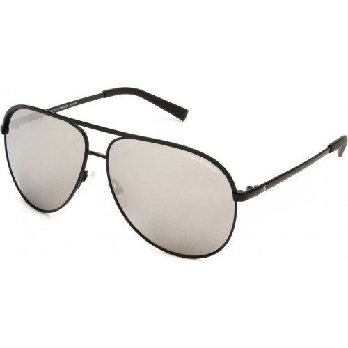 ΓΥΑΛΙΑ ΗΛΙΟΥ Armani Exchange AX2002 6063Z3 61 MATTE BLACK / GREY MIRROR SILVER POLAR