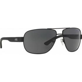 ΓΥΑΛΙΑ ΗΛΙΟΥ Armani Exchange AX2012S 606387 62 SATIN BLACK/BLACK / GREY SOLID
