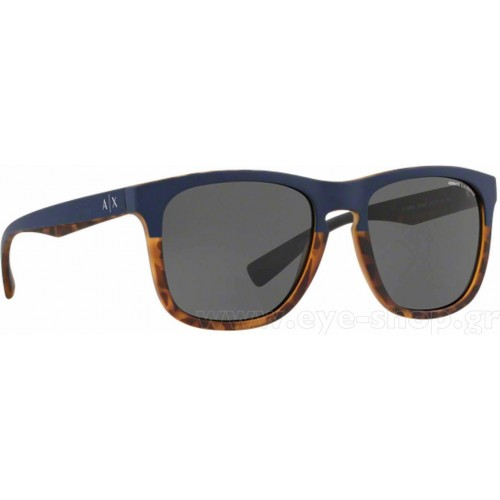 ΓΥΑΛΙΑ ΗΛΙΟΥ Armani Exchange AX4058S 824687 55 MATTE DARK BLUE/MATTE HAVANA / GREY