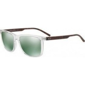 ΓΥΑΛΙΑ ΗΛΙΟΥ Armani Exchange AX4070S 82356R 57 TRANSPARENT GRYSTAL / LIGHT GREEN MIRROR PETROL