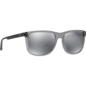 ΓΥΑΛΙΑ ΗΛΙΟΥ Armani Exchange AX4070S 82396G 57 TRANSPARENT MAGNET GREY / LIGHT GREY MIRROR BLACK