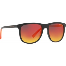 ΓΥΑΛΙΑ ΗΛΙΟΥ Armani Exchange AX4078S 80786Q 56 MATTE BLACK / GREY MIRROR RED/YELLOW