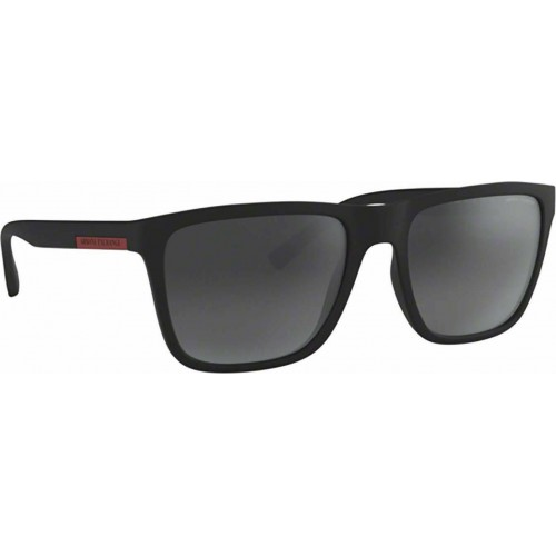 ΓΥΑΛΙΑ ΗΛΙΟΥ Armani Exchange AX4080S 80786G 57 MATTE BLACK / LIGHT GREY MIRROR BLACK