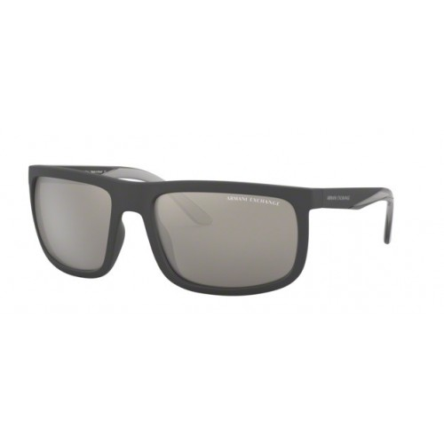 ΓΥΑΛΙΑ ΗΛΙΟΥ Armani Exchange AX4084S 80786G 60 MATTE BLACK / LIGHT GREY MIRROR SILVER