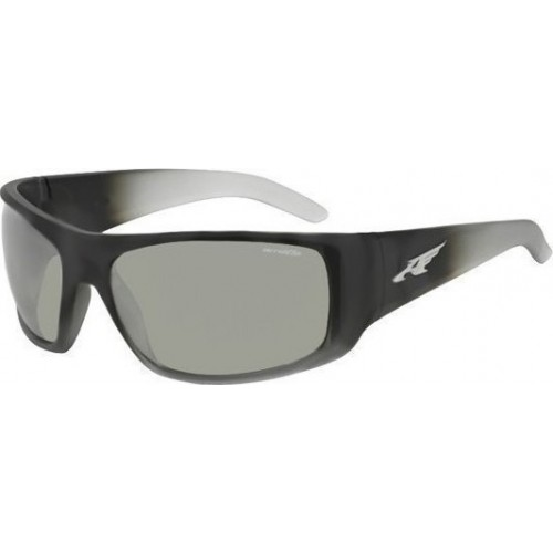 ΓΥΑΛΙΑ ΗΛΙΟΥ Arnette AN4179 22536G 66 LA PISTOLA FUZZY BLACK/TASLUCENT GREY / LIGHT GREY MIRROR SILVER