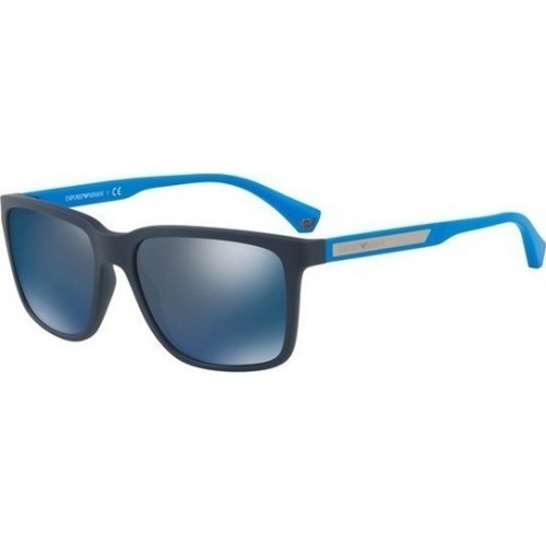 ΓΥΑΛΙΑ ΗΛΙΟΥ Emporio Armani EA4047 565225 56 BLUE RUBBER / DARK GREY