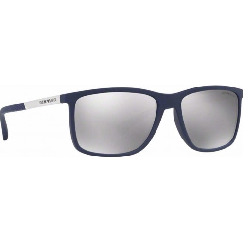 ΓΥΑΛΙΑ ΗΛΙΟΥ Emporio Armani EA4058 57596G 58 DARK BLUE RUBBER / LIGHT GREY MIRROR