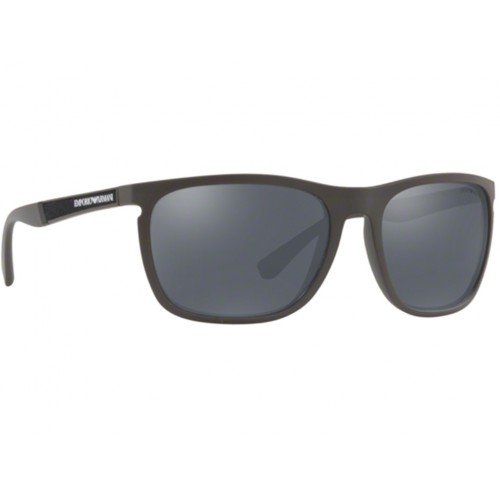 ΓΥΑΛΙΑ ΗΛΙΟΥ Emporio Armani EA4107 56406Q 59 MATTE MUD / LIGHT GREY MIRROR BLACK