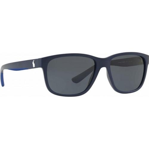 ΓΥΑΛΙΑ ΗΛΙΟΥ Polo PH4142 573387 57 MATTE NAVY BLUE / GREY/BLUE
