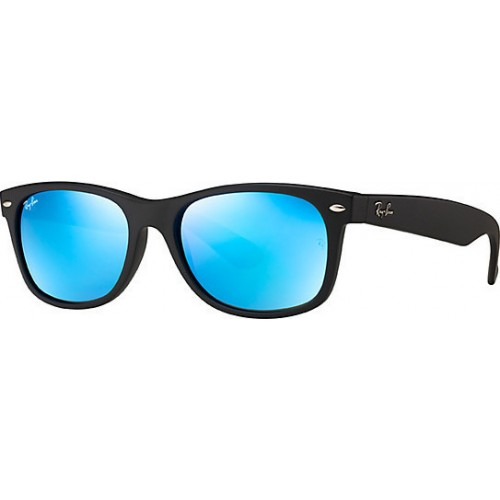 ΓΥΑΛΙΑ ΗΛΙΟΥ Ray-Ban® RB2132 622/17 55 NEW WAYFARER RUBBER BLACK / GREY MIRROR BLUE