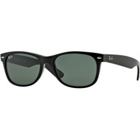 ΓΥΑΛΙΑ ΗΛΙΟΥ Ray-Ban® RB2132 901L 55 NEW WAYFARER BLACK / CRYSTAL GREEN