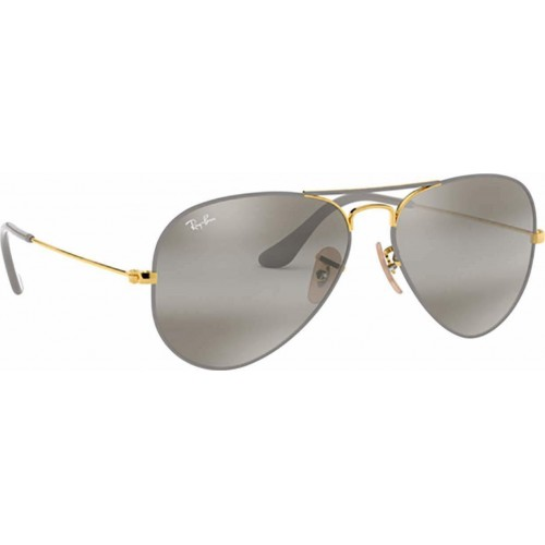 ΓΥΑΛΙΑ ΗΛΙΟΥ Ray-Ban® RB3025 9154AH 58 AVIATOR METAL GOLD ON TOP MATTE GREY / GREY