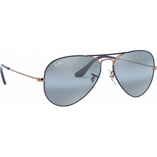 ΓΥΑΛΙΑ ΗΛΙΟΥ Ray-Ban® RB3025 9156AJ 58 AVIATOR METAL COPPER ON MATTE DARK BLUE / BLUE