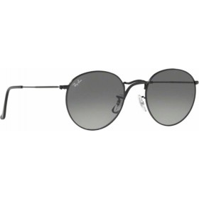 ΓΥΑΛΙΑ ΗΛΙΟΥ Ray-Ban® RB3447N 002/71 53 ROUND METAL BLACK / GRAY GREEN