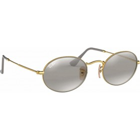 ΓΥΑΛΙΑ ΗΛΙΟΥ Ray-Ban® RB3547 9154AH 54 OVAL GOLD ON TOP MATTE GREY / GREY