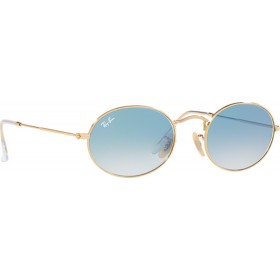 ΓΥΑΛΙΑ ΗΛΙΟΥ Ray-Ban® RB3547N 001/3F 54 OVAL ARISTA / CRYSTAL WHITE GRAD. BLUE