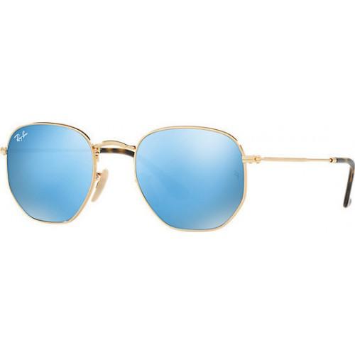 ΓΥΑΛΙΑ ΗΛΙΟΥ Ray-Ban® RB3548N 001/9O 51 HEXAGONAL GOLD / LIGHT BLUE FLASH