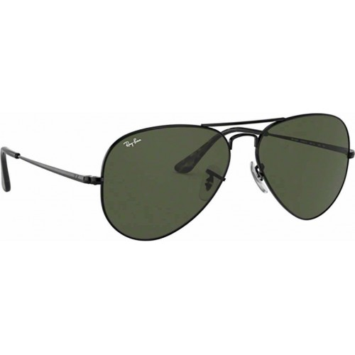 ΓΥΑΛΙΑ ΗΛΙΟΥ Ray-Ban® RB3689 914831 58 BLACK / CRYSTAL GREEN