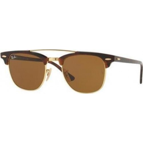 ΓΥΑΛΙΑ ΗΛΙΟΥ Ray-Ban® RB3816 990/33 51 CLUBMASTER DOUBLEBRIDGE GOLD / BROWN