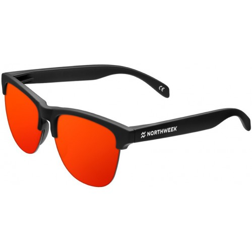 ΓΥΑΛΙΑ ΗΛΙΟΥ Northweek GV06 GRAVITY FLAKA - MATTE BLACK RED POLARIZED