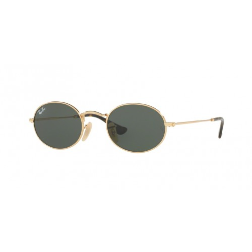 ΓΥΑΛΙΑ ΗΛΙΟΥ Ray-Ban® RB3547N 001 54 OVAL FLAT LENCES GOLD / GREEN