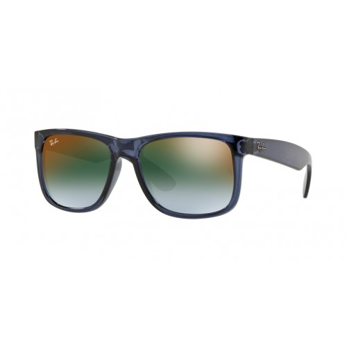 ΓΥΑΛΙΑ ΗΛΙΟΥ Ray-Ban® RB4165 6341T0 55 TRASPARENT BLUE / BLUE GRADIENT GREEN MIRROR RED