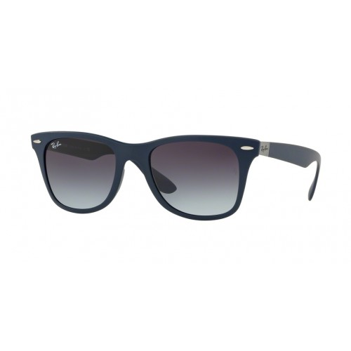 ΓΥΑΛΙΑ ΗΛΙΟΥ Ray-Ban® RB4195 63318G 52 WAYFARER LITEFORCE MATTE BLUE / GREY GRADIENT DARK GREY